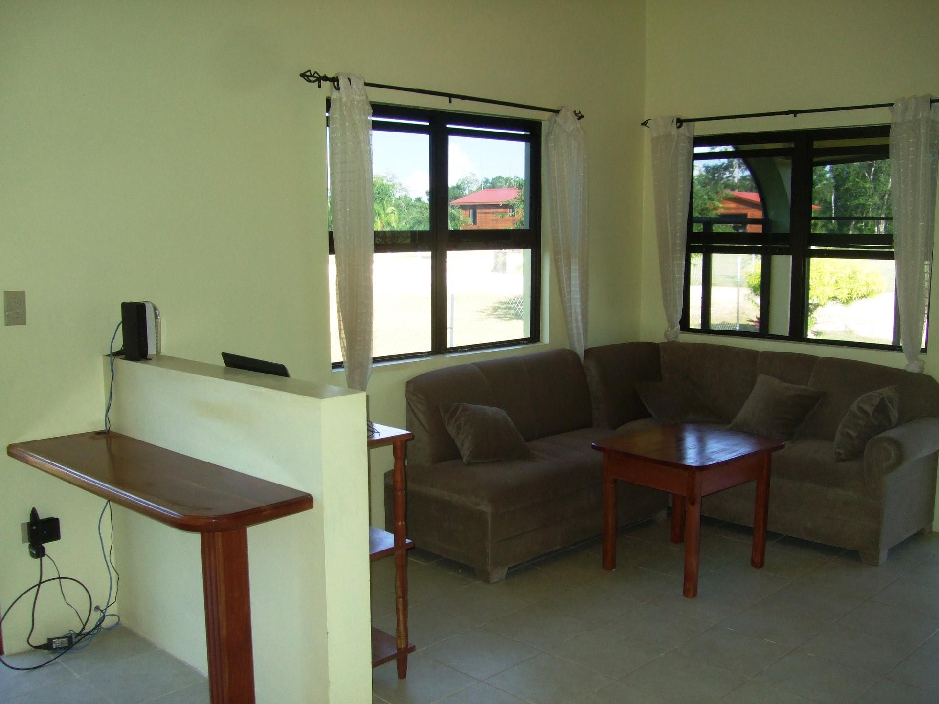 Computer Nook & Living Room